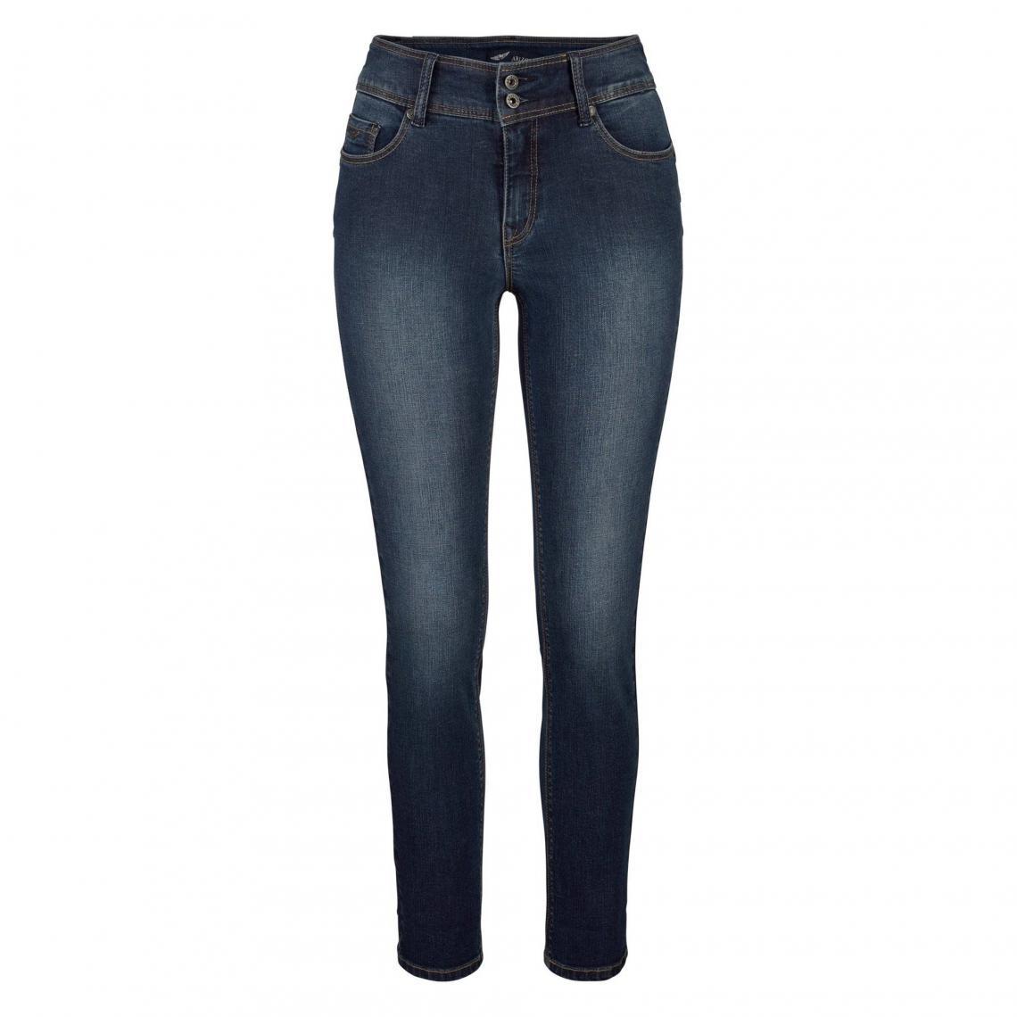 95ab18ad1af4 Jean slim fit taille haute stretch femme Ankle Arizona - Bleu Arizona