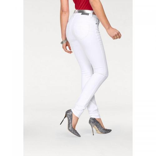 Arizona - Jean slim denim brossé coton stretch femme Arizona - Blanc - Vêtements femme