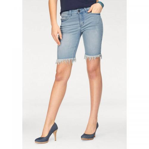 a2501a5b7aea Arizona - Bermuda à franges femme Arizona - Bleu - Promotions Jeans femme