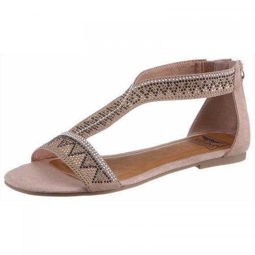 c8154422712664 Arizona - Sandales plates bouts ouverts avec zip femme Arizona - rosé -  Sandales