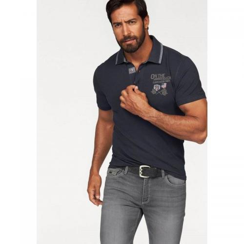 5b48b15ca1b0 Arizona - Polo maille piquée manches courtes homme Arizona - Bleu -  Vêtements homme
