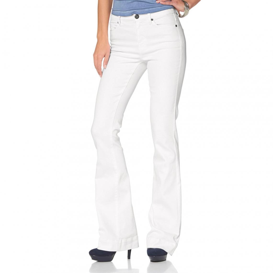 c453b3c11f80 Jean slim et pattes d éléphant femme Arizona - Blanc Arizona Femme