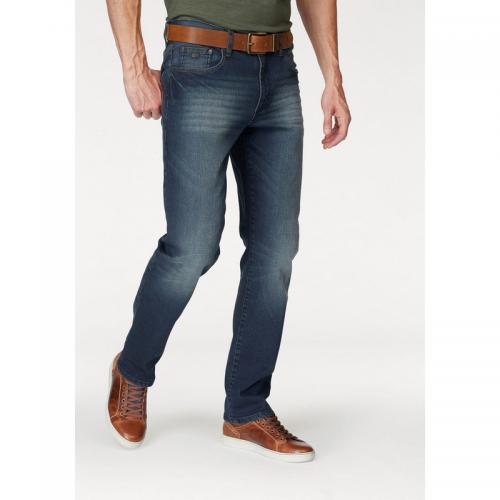 Arizona - Jean droit homme Arizona - Bleu Foncé Used - Jeans homme 0e7f323ddcf