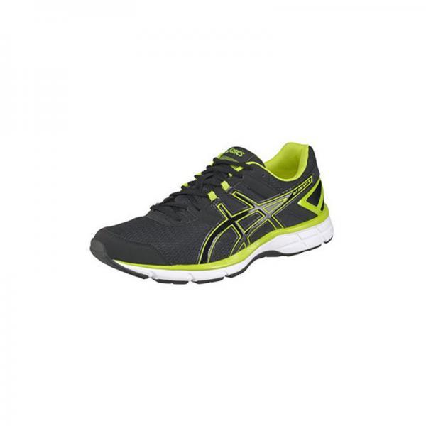 taille 40 8341e 82845 Chaussures de courses noir et jaune Asics homme