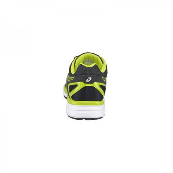 taille 40 5db62 06b2a Chaussures de courses noir et jaune Asics homme