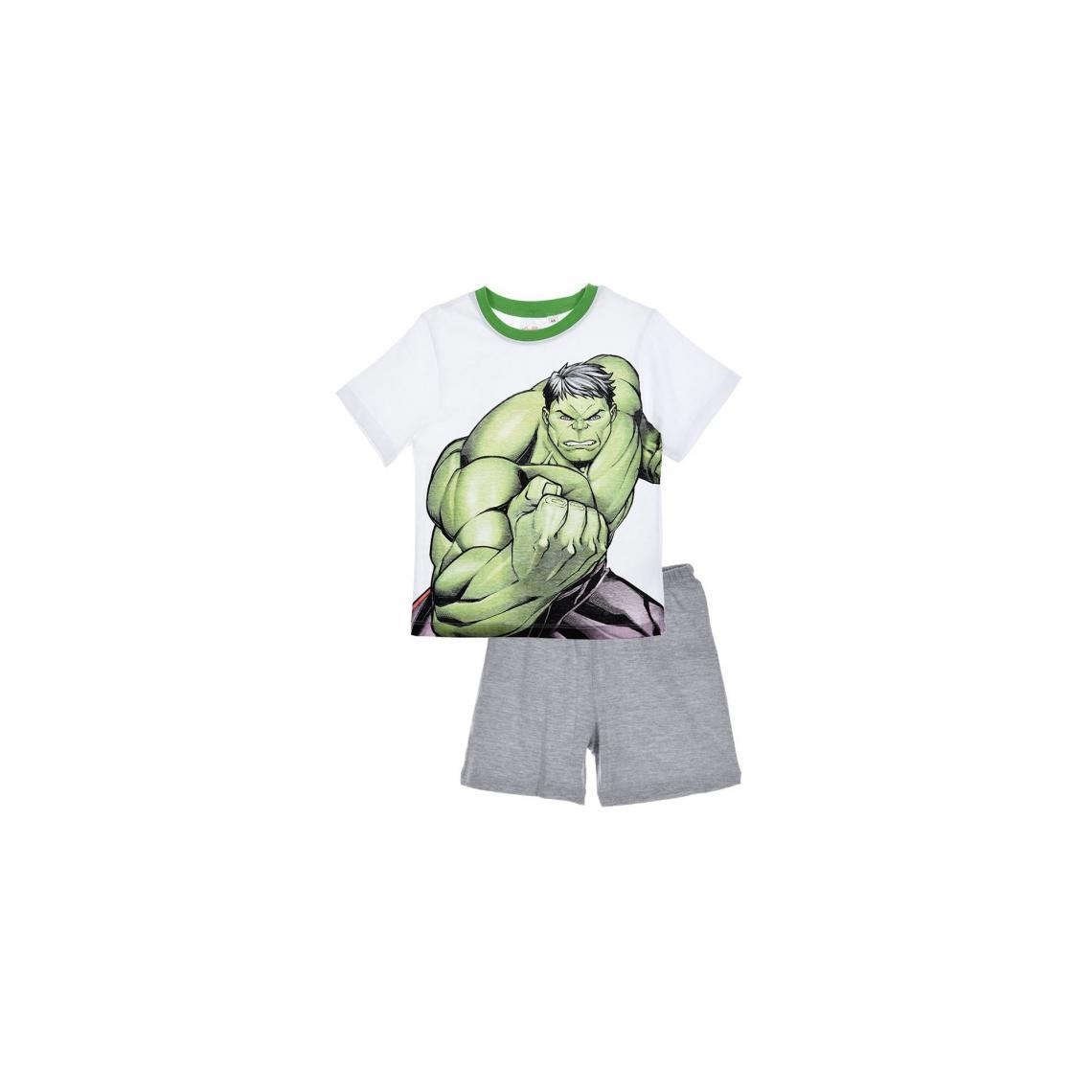 Pyjama short coton gar�on Avengers - Gris - 3Suisses