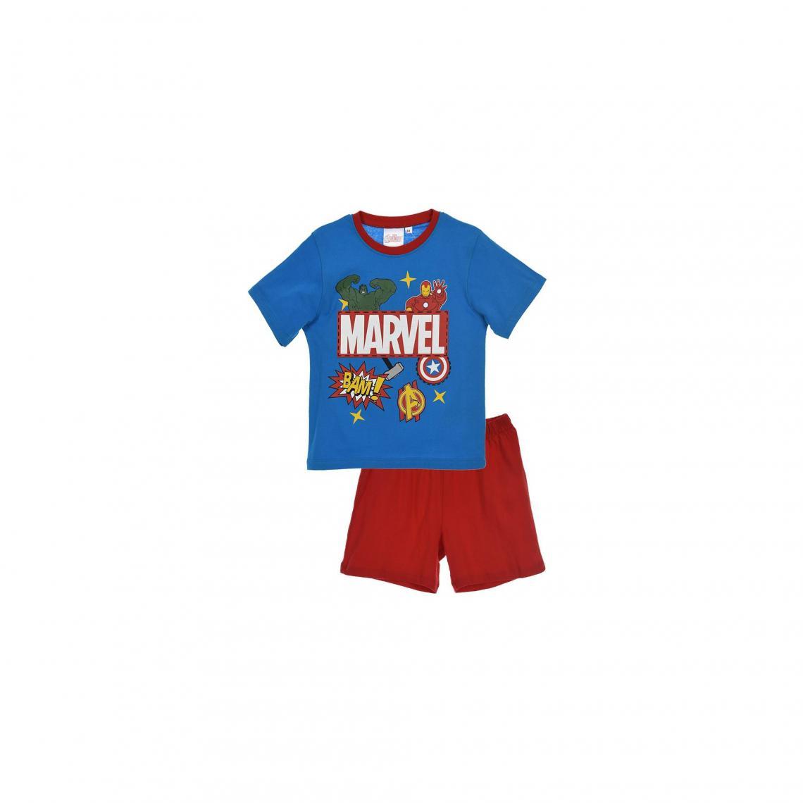 Pyjama short coton gar�on Avengers - Rouge - 3Suisses