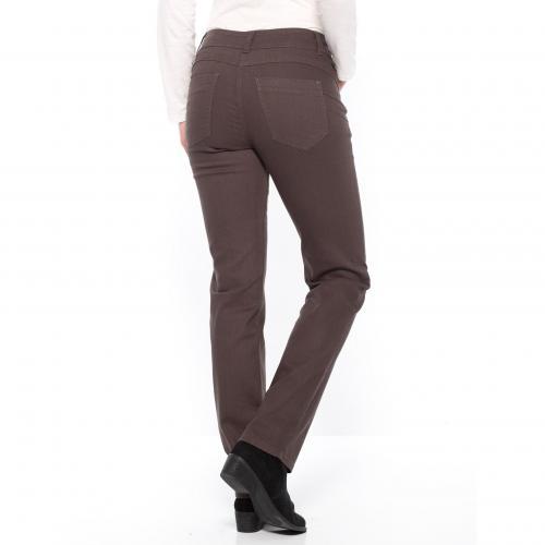 3fd7b9d303382 Pantalon Slim effet Push Up Balsamik - Marron