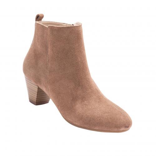 0bb3491418f Balsamik - Boots à talons en cuir et velours Balsamik - Marron - Chaussures  femme