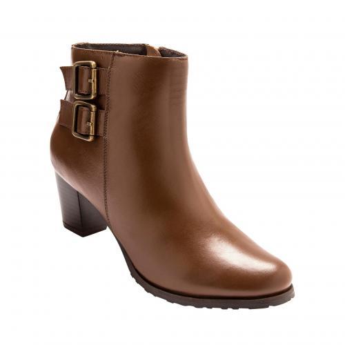 3c9b038bdb339f Balsamik - Bottines à talon avec boucles Balsamik - Marron - Chaussures  femme