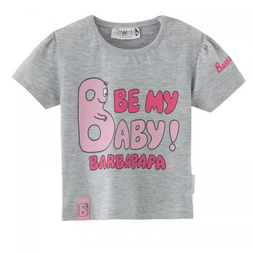 c9685ff0a8394 Barbapapa - T-shirt manches courtes imprimé bébé fille Barbapapa - Gris -  Vêtement