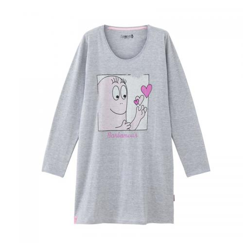 Barbapapa - Grand tee-shirt de nuit manches longues Barbapapa - Gris - Barbapapa