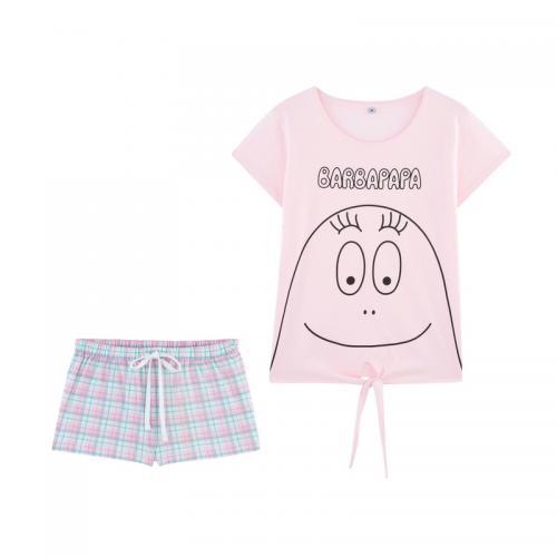 b7d93e6b3f976 Barbapapa - Pyjama short femme Barbapapa - Rose - Barbapapa