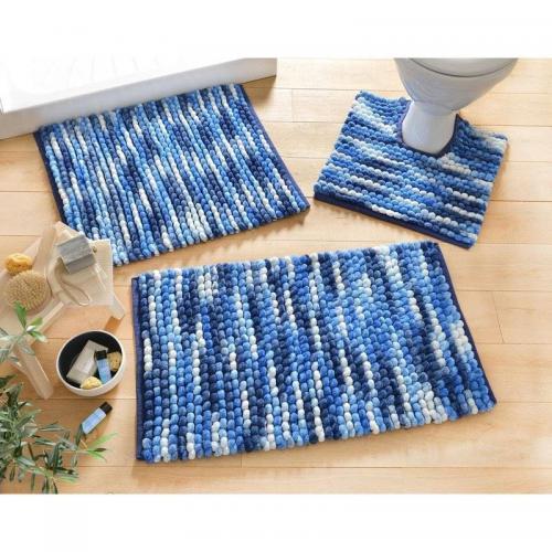 tapis de bain microfibre 1800g m2 becquet bleu 3suisses. Black Bedroom Furniture Sets. Home Design Ideas