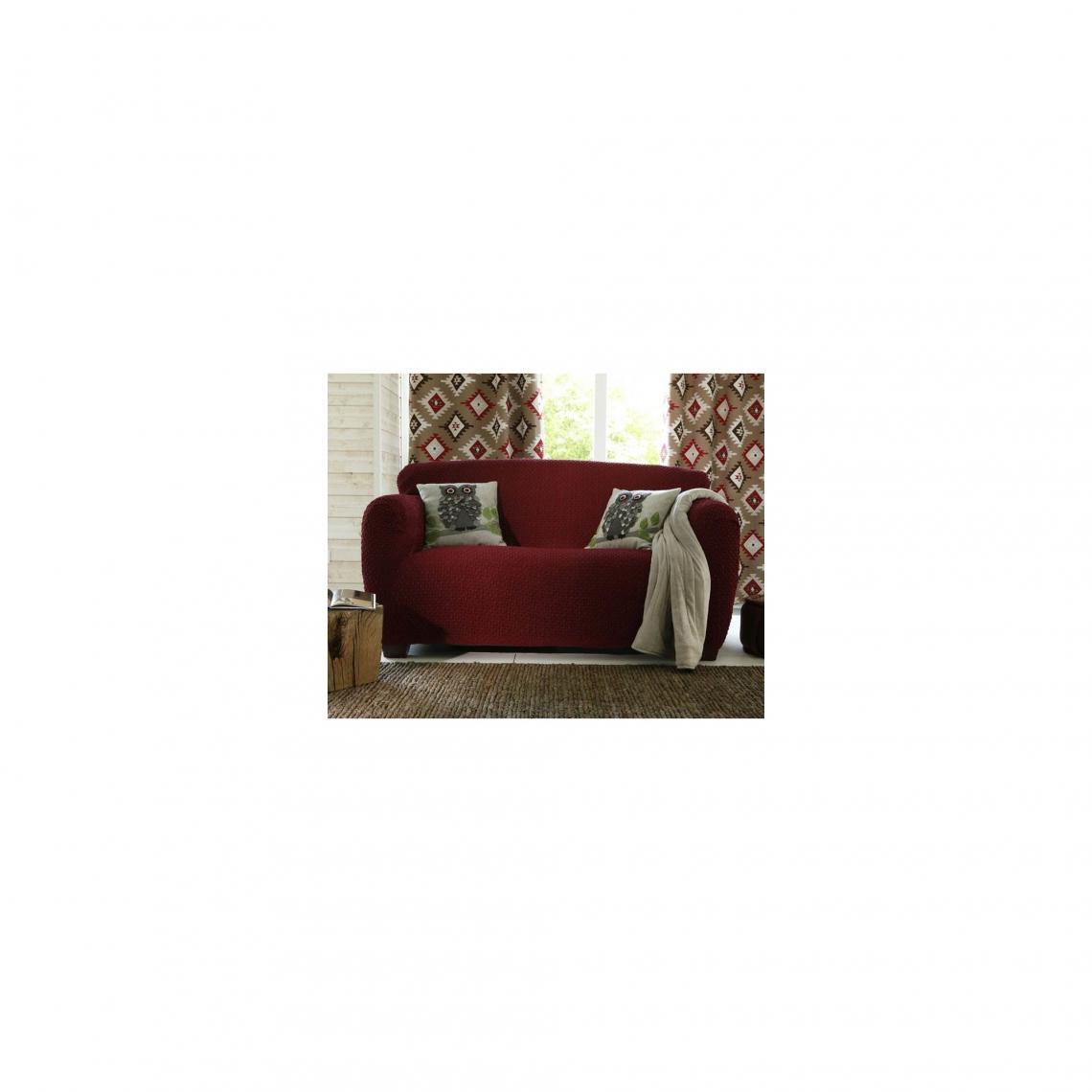 Comment Faire Une Housse De Fauteuil housse de canapé bi-extensibles fauteuil et canapé à accoudoirs - rouge 1  avis plus de détails