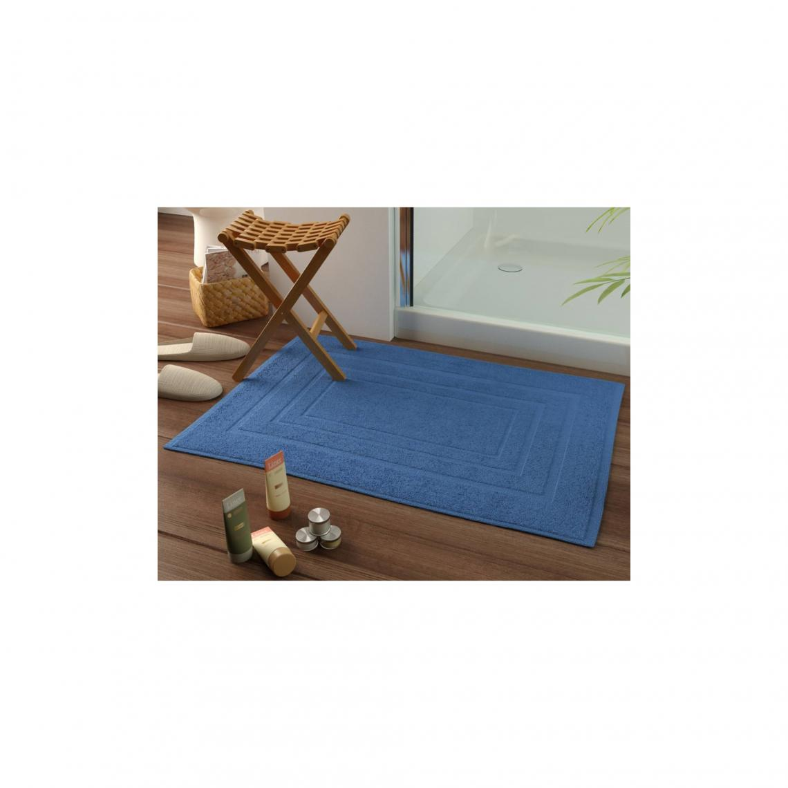 Tapis De Bain Laureat 1000gm2 Bleu 3 Suisses