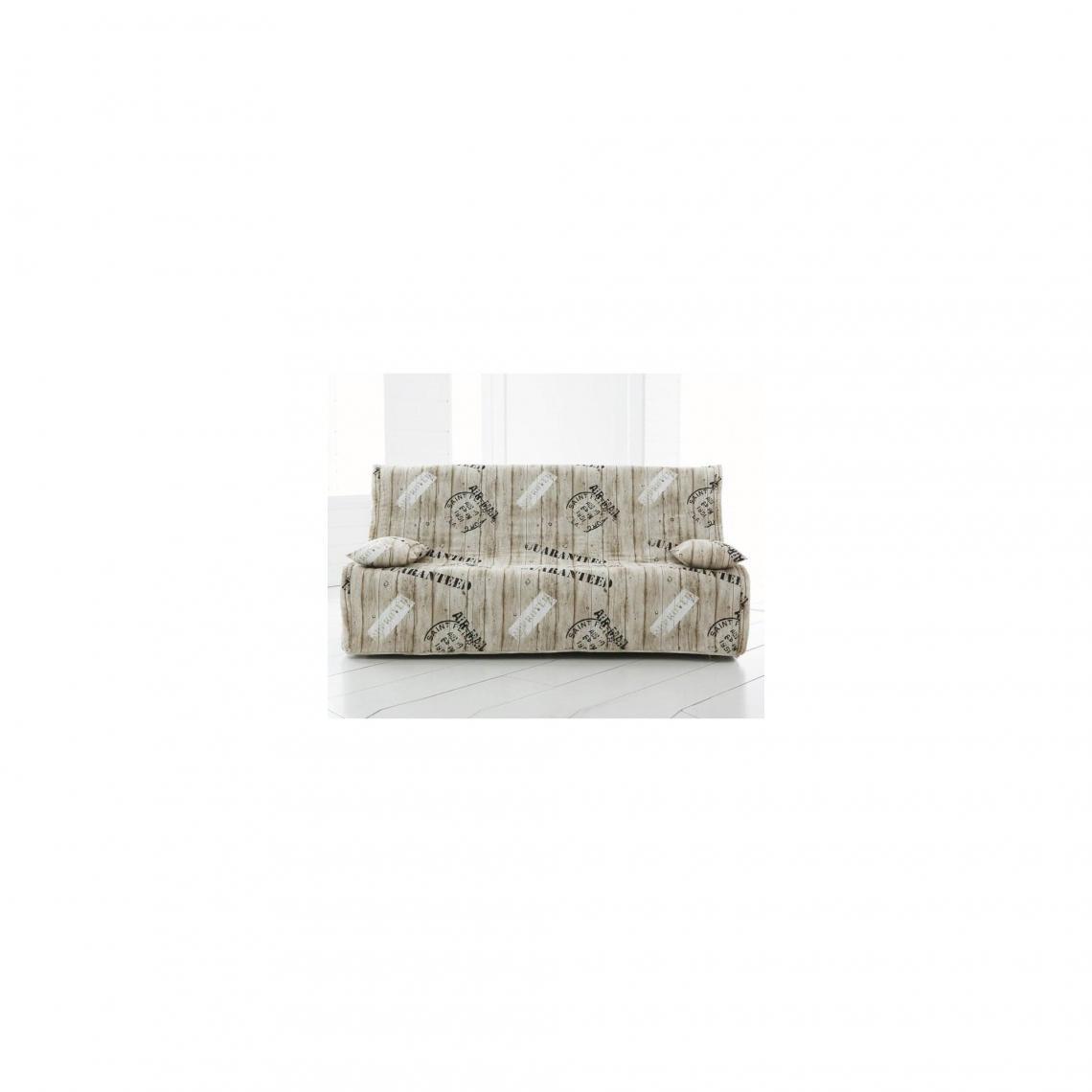 housse clic clac matelass e int grale beige 3suisses. Black Bedroom Furniture Sets. Home Design Ideas