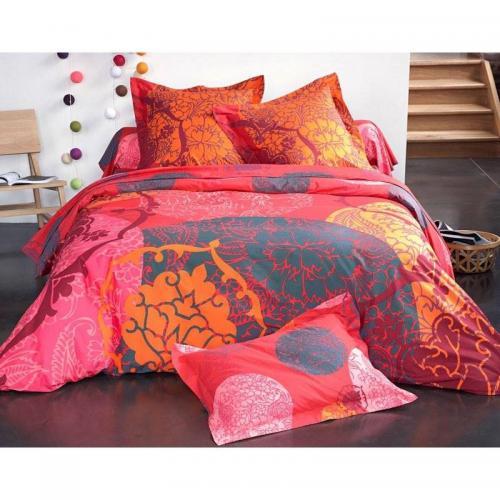 housse de couette fleurs exotiques becquet multicolore rouge 3suisses. Black Bedroom Furniture Sets. Home Design Ideas