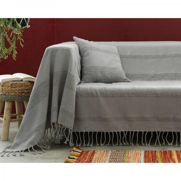 jet de canap et fauteuil tissage artisanal grisvoir 3 suisses