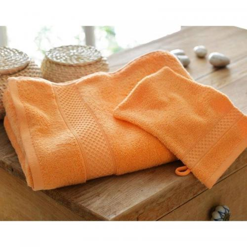 Becquet - Lot de 2 gants airdrop® 450gm2 Becquet - Orange - Gant de toilette