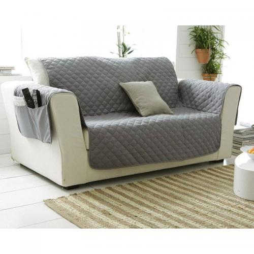 Becquet - Plaid piquage carreaux Becquet - Gris - Plaid