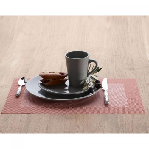 Becquet - Set de table rectangulaires unis Becquet - Rose - Linge de maison
