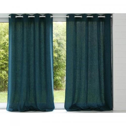 Rideaux de d/écoration de Porte de fen/être de avec des Pompons 135 x 175 cm Cosics Rideau en fen/être Beige Deux Panneaux