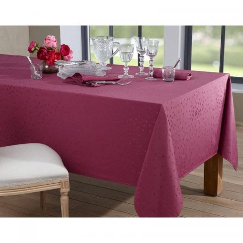 Becquet - Lot de 3 serviettes de table décor pois Becquet - Prune - Serviette de table