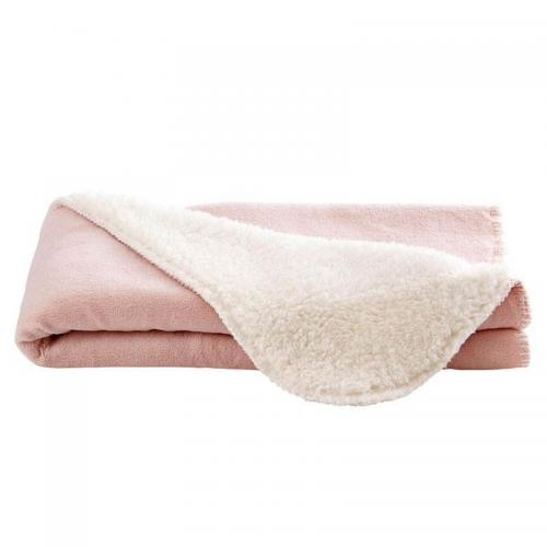 Becquet - plaid bébé bicolore ultra doux Becquet - Rose - Couvertures 6e07b57a3e9