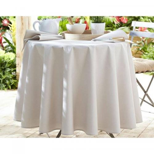 Lot de 3 serviettes unies Becquet - Beige