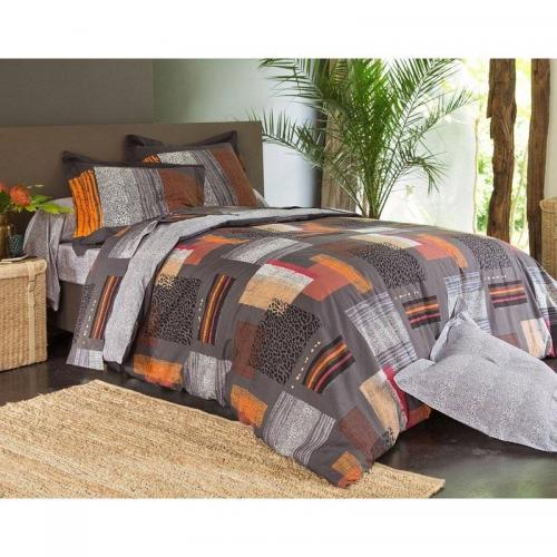 Becquet - Drap patchwork Becquet - Multicolore Orange - Draps plats