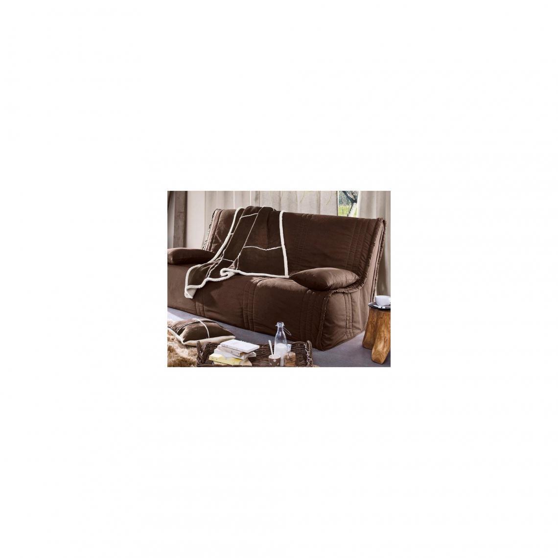 Housse clic-clac matelassées Becquet - Chocolat Becquet Linge de maison 0a9a76432dcb