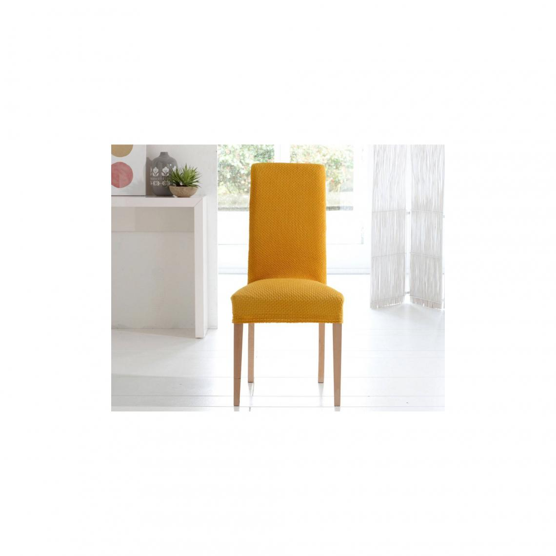 Lot de 7 housses de chaise bi-extensibles - Jaune Miel