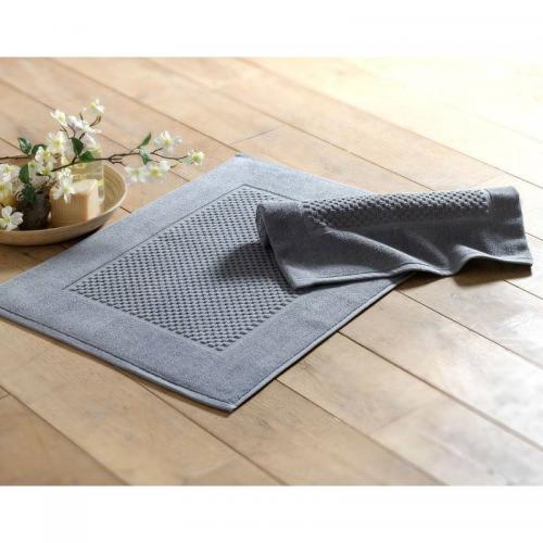 Lot de 2 tapis de bain rectangulaire - Gris
