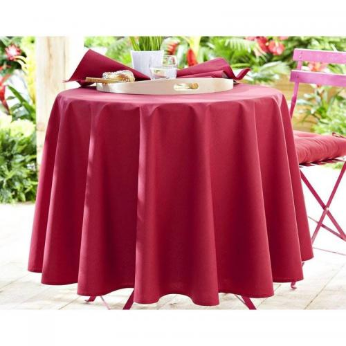 Becquet - Lot de 3 serviettes unies Becquet - Rose - Linge de table