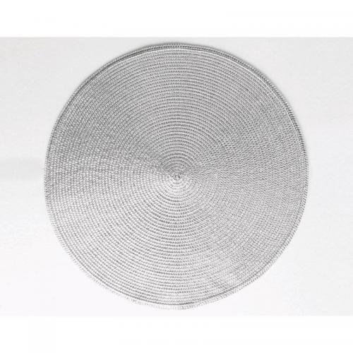 Becquet - Lot de 4 sets de table rond or ou argent Becquet - Gris - Sets, chemins de table