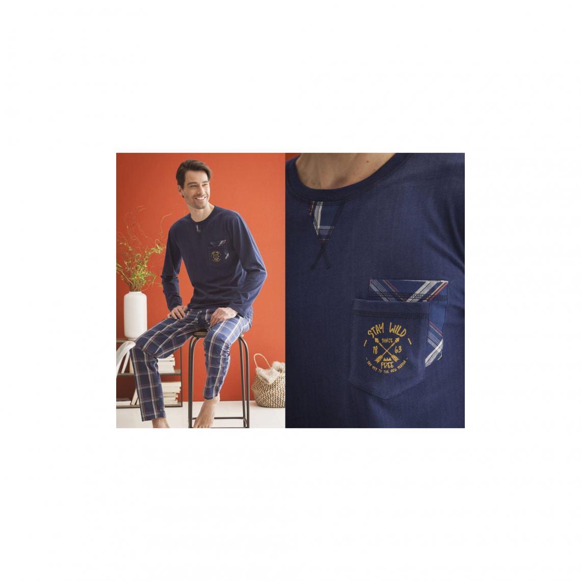 Pyjama homme Becquet - Bleu - 3Suisses