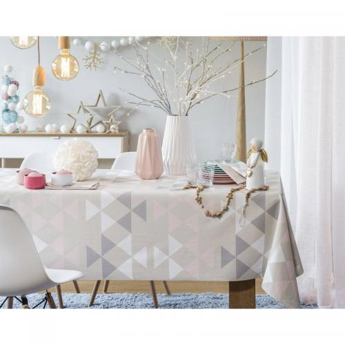 Becquet - Chemin de table motif triangles Becquet - Multicolore - Linge de table