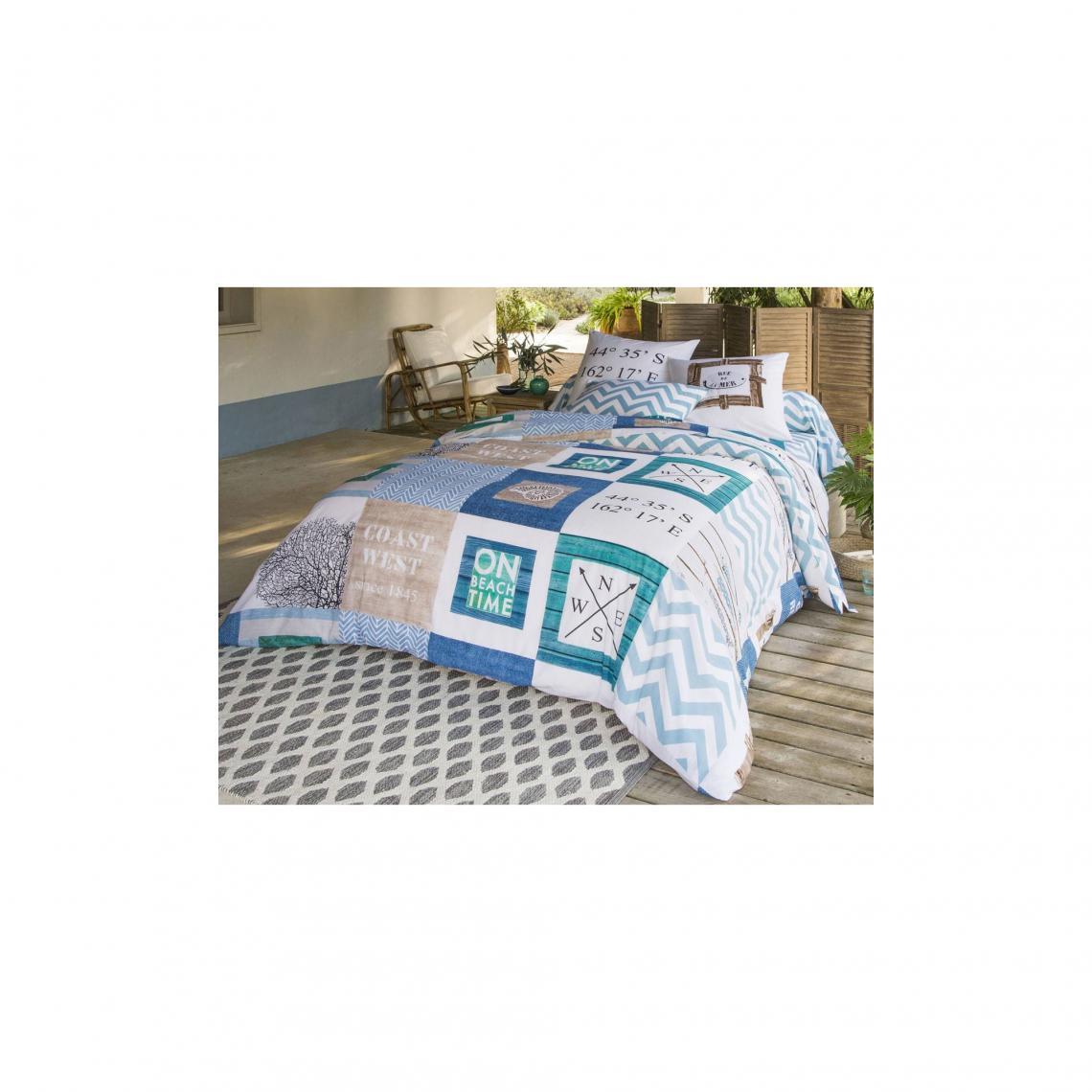 housse de couette damier th me marin becquet multicolore. Black Bedroom Furniture Sets. Home Design Ideas