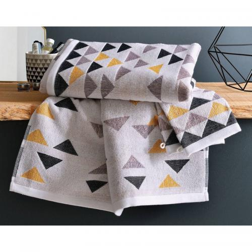 Becquet - Serviette de toilette triangles Becquet - Multicolore - Serviettes de toilette