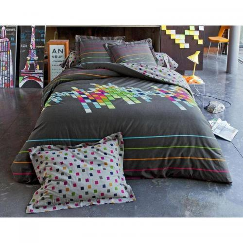 housse de couette equalizer multicolore 3 suisses. Black Bedroom Furniture Sets. Home Design Ideas