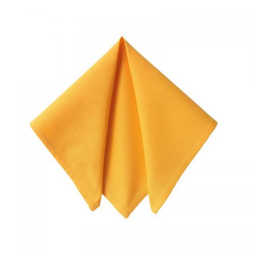 Becquet - Lot de 6 serviettes unies Becquet - Jaune Ocre - Serviette de table