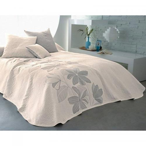 couvre lit blanc becquet gris 3suisses. Black Bedroom Furniture Sets. Home Design Ideas