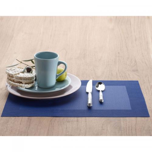 Becquet - Set de table rectangulaires unis Becquet - Bleu - Linge de maison