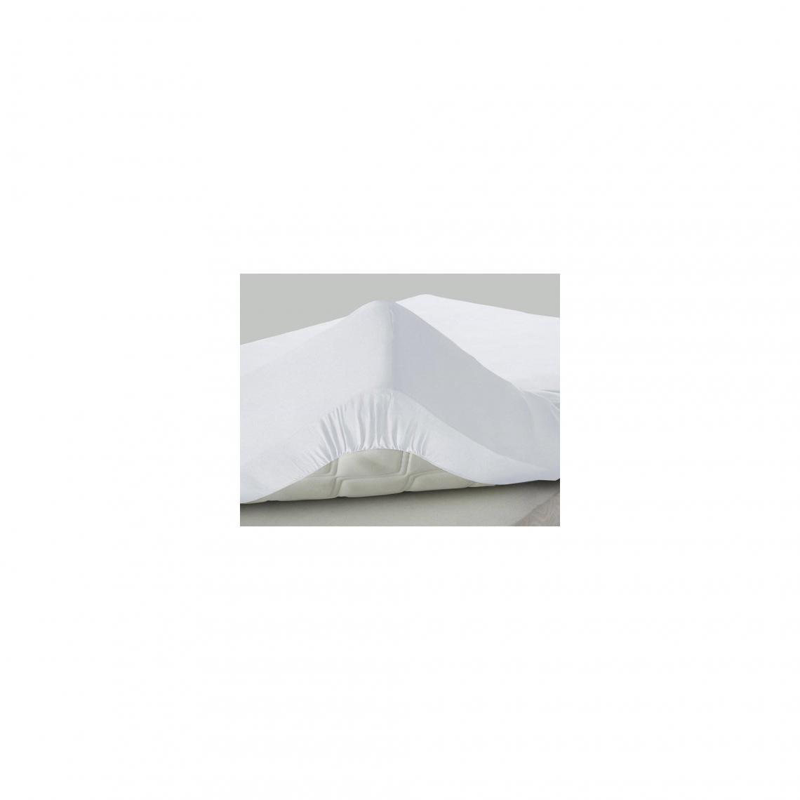 drap housse jersey super 40 cm blancvoir 3 suisses
