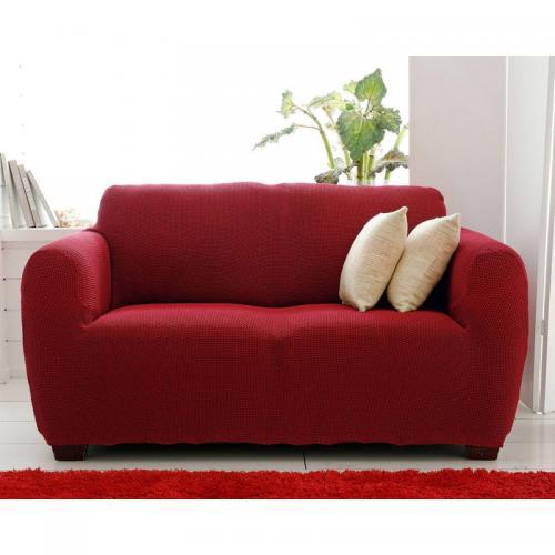 Housse de canapé bi extensibles Rouge Rubis Becquet