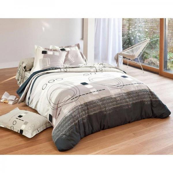 drap imprim g om trique becquet beige 3 suisses. Black Bedroom Furniture Sets. Home Design Ideas