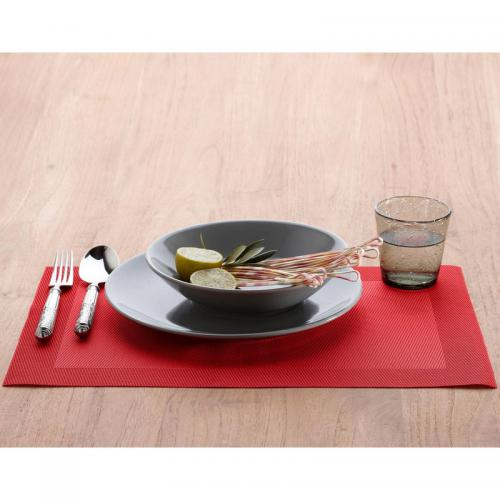Becquet - Set de table rectangulaires unis Becquet - Rouge - Linge de maison