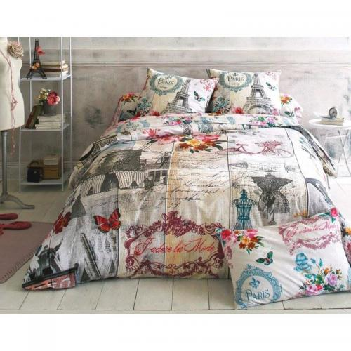 Drap housse paris Becquet - Multicolore Gris