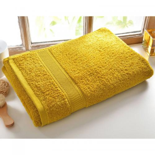 Becquet - Lot de 2 serviettes unies lauréat 450gm2 Becquet - Jaune - Serviette de toilette